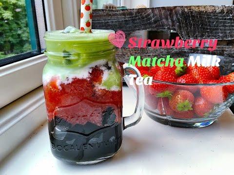 Strawberry Matcha Milk Tea I MATCHA CREATION