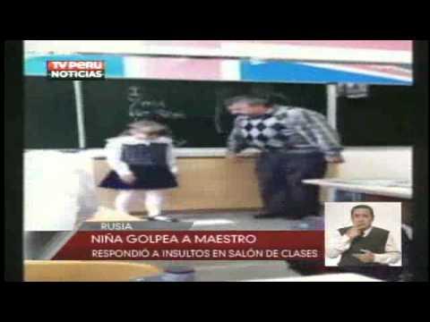 TVPerúNoticias05/09/12 Niña rusa se defiende de maestro