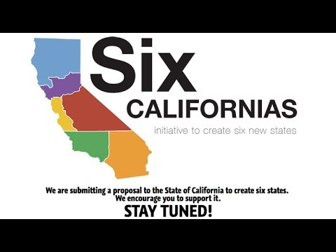 Silicon Valley Proposes Six New Californias