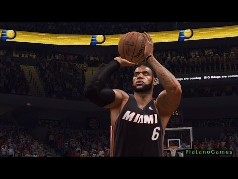 NBA Live 14 East Finals - Miami Heat vs Indiana Pacers - Game 2 - Halftime Highlights - HD