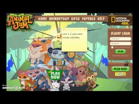 animaljam non member usernames and passwords SOMEONE HACKED ME.AND TOOK MY STUFF