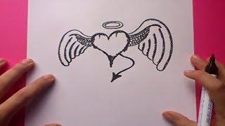 Como Dibujar Un Corazon Con Alas Paso A Paso 2 How To