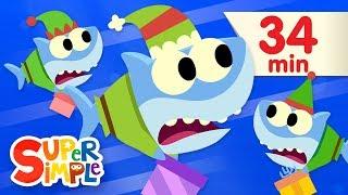 Santa Shark - Featuring Baby Shark   + More Kids Songs   Christmas Special