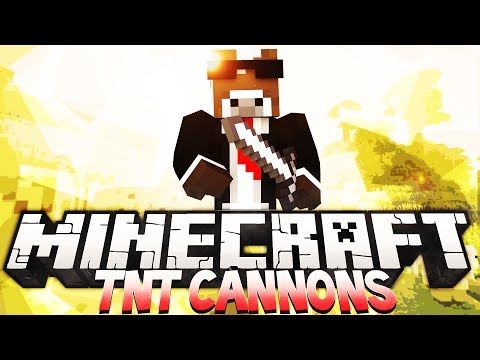 Minecraft TNT WARS - How To Make a TNT Chaos Cannon w/ BajanCanadian, JeromeASF & More