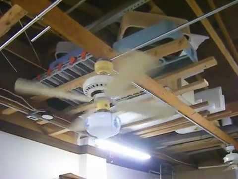 Plastic Emerson Ceiling Fans In My Garage