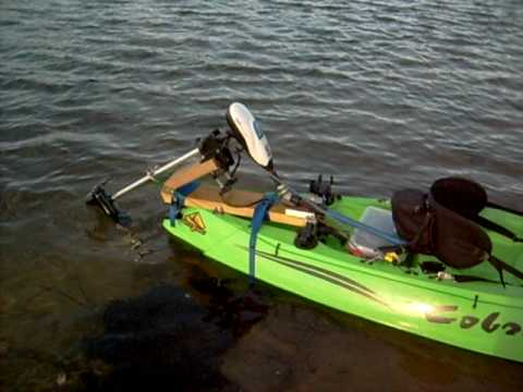 Fishing here electric boat motors for kayaks for Fishing kayak with trolling motor