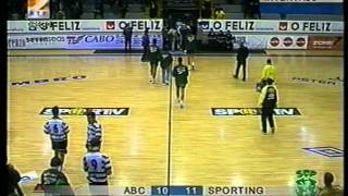 Andebol :: 08j :: ABC - 21 x Sporting - 25 de 2000/2001