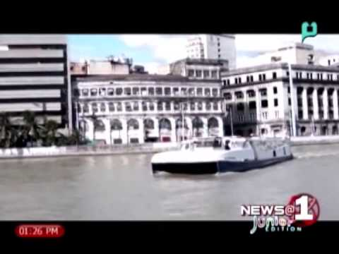 [News@1 Junior Edition] Fare rate on Pasig River Ferry Service was announced on Thursday [05|18|14]