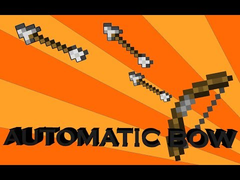 Automatic/Burst bow in vanilla minecraft