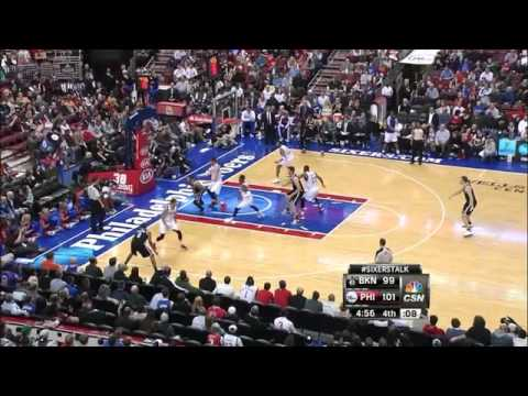 Brook Lopez Breaks Foot Vs. Philadelphia 76ers -- 12.20.2013