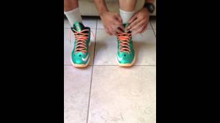 How To Tie Your Shoes The Sneaker Head Way Lebron X