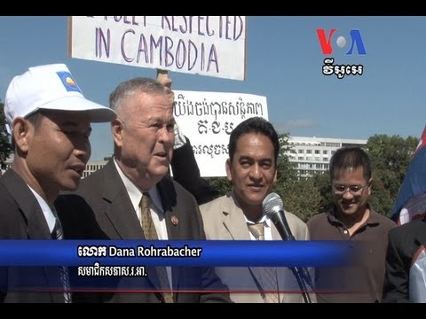 Cambodian- Americans Protest at Capitol Hill For Fair Election Results​