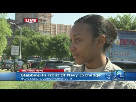 Lex Gray on stabbing reported at Navy exchange in Portsmouth