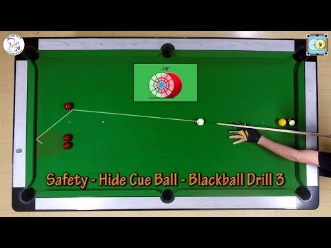 Safety - Hide Cue Ball - Drill 3 - Exercise #26 - Pool & Billiard Training Lesson