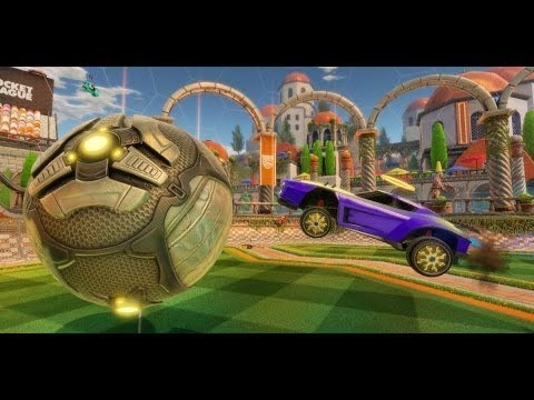 Dangamez playing Rocket League saves, goals, clear balls and skills
