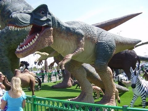 DINOSAUR FUN   PARK FOR KIDS  - Giant  Dinosaurs Jurassic Park For Kids