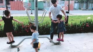 Tập thể dục ngoài trời | Gia đình Lý Hải Minh Hà