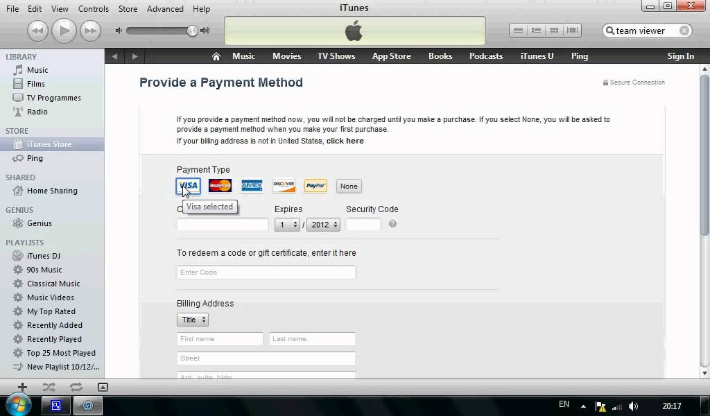 how to make apple id without credit card on pc