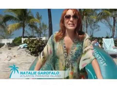 Natalie Enjoys the Lazy River at Atlantis Bahamas