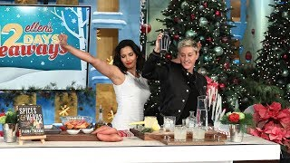 Padma Lakshmi Shakes It Up with Ellen