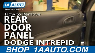 How To Install Replace Rear Door Panel Dodge Intrepid 98