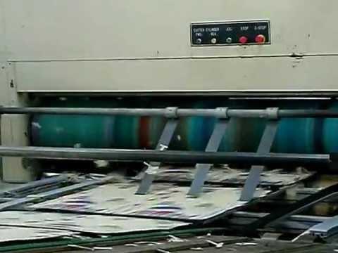 Flexo Printer with Stacker _ Pepsi beverage carton box