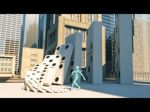 Big Domino Effect simulation V2
