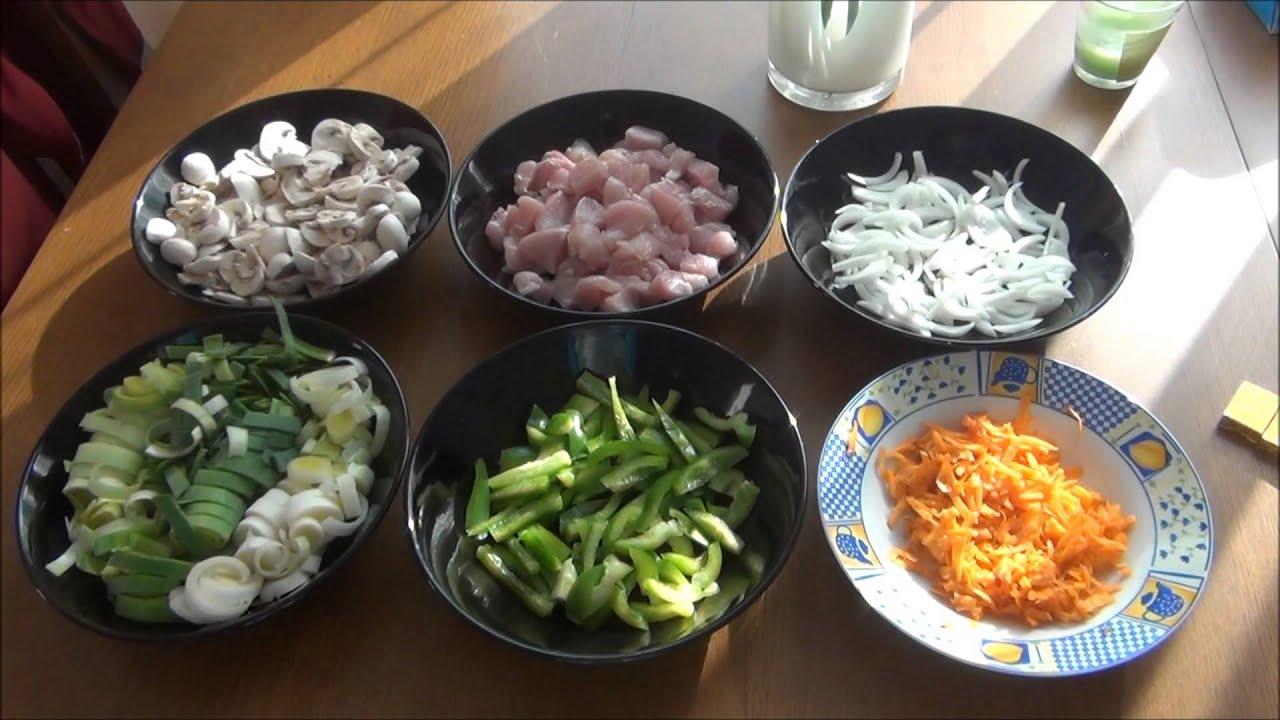 Рецепт куриного филе с овощами по китайски