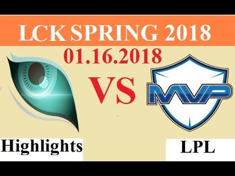 [01.16.2018]: KDM vs MVP - Highlights Game 2 - LCK Spring 2018