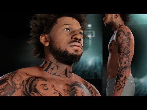 NBA 2k16 My Career Gameplay Ep. 6 - Customized Tattoos on Bridges! How to Edit/Blend Tattoos