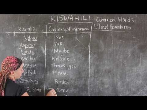 GO! presents: BEST Swahili Tutorial - Video #6 - COMMON WORDS (live from Tanzania)