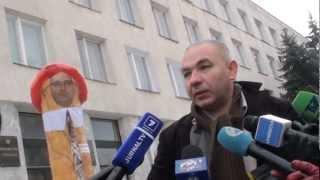 Protest creativ al lui Anatol Mătăsaru la Procuratură