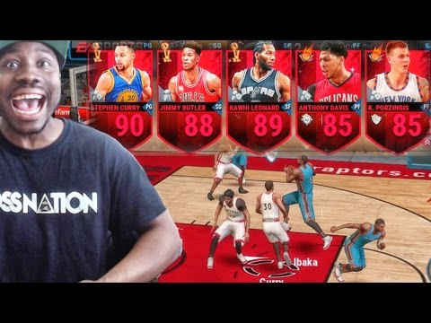 CURRY WON'T MISS! NBA Live Mobile 16 Gameplay - THIS LINEUP IS INSANE Ep. 4
