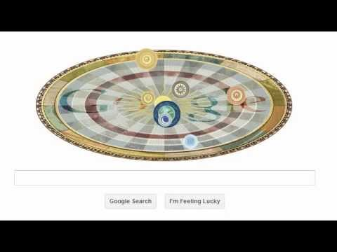 doodle google Nicolaus Copernicus 540 years    