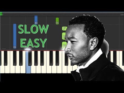 How To Play All Of Me by John Legend  - SLOW Easy Piano Tutorial