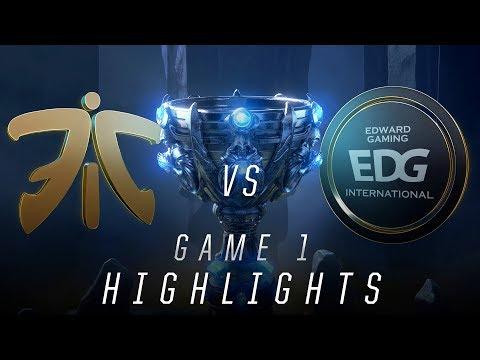 FNC vs EDG - Worlds Quarterfinal Match Highlights (2018)