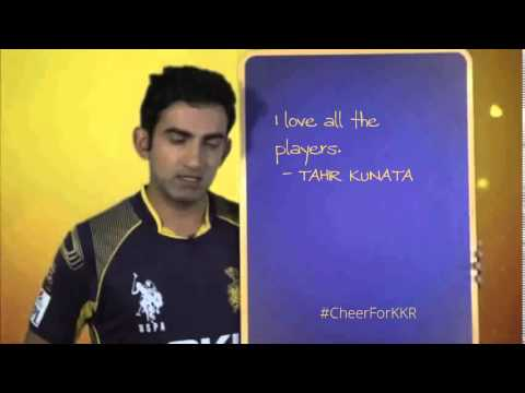 TAHIR KUNATA's #cheerforkkr pledge. One Team. One Pledge.
