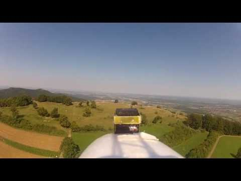 Super Sky Surfer FPV fun flight 3 - Schwäbische Alp