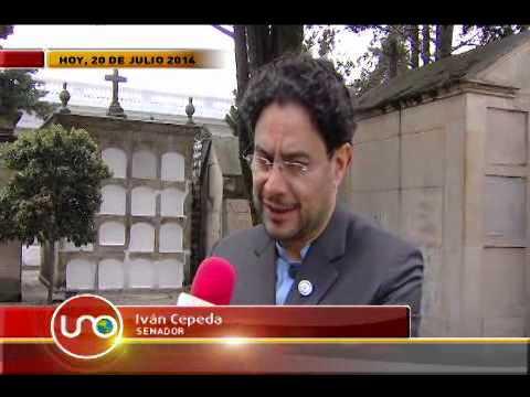 El primer día del senador Iván Cepeda