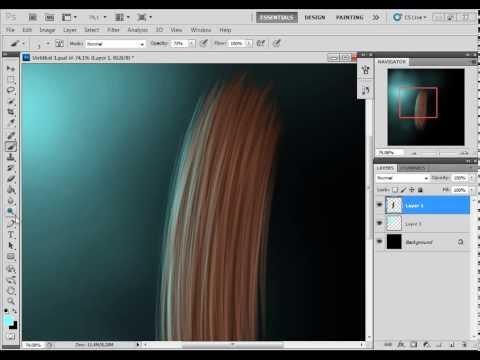 3-Урок Photoshop Учимся рисовать волосы