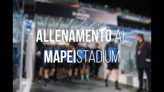 UEL Atalanta-Lione, l'allenamento dei nerazzurri al Mapei Stadium