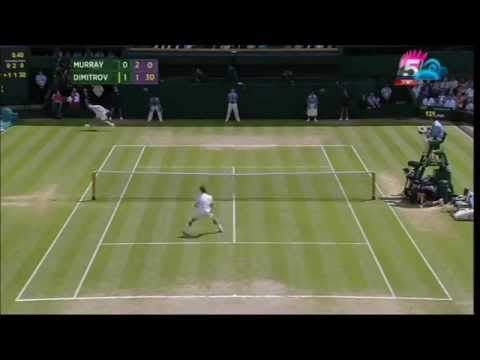 Dimitrov Vs Murray Wimbledon 2014 Quarter Final Highlights [HD]