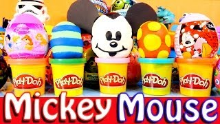 Play Doh Mickey And Minnie Mouse Kinder Surprise Disney