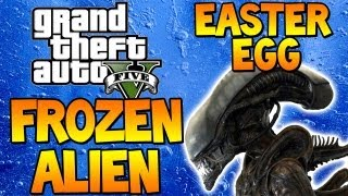 "GTA 5 - ""FROZEN ALIEN EASTER EGG"" Free Roaming (Grand Theft Auto V)"
