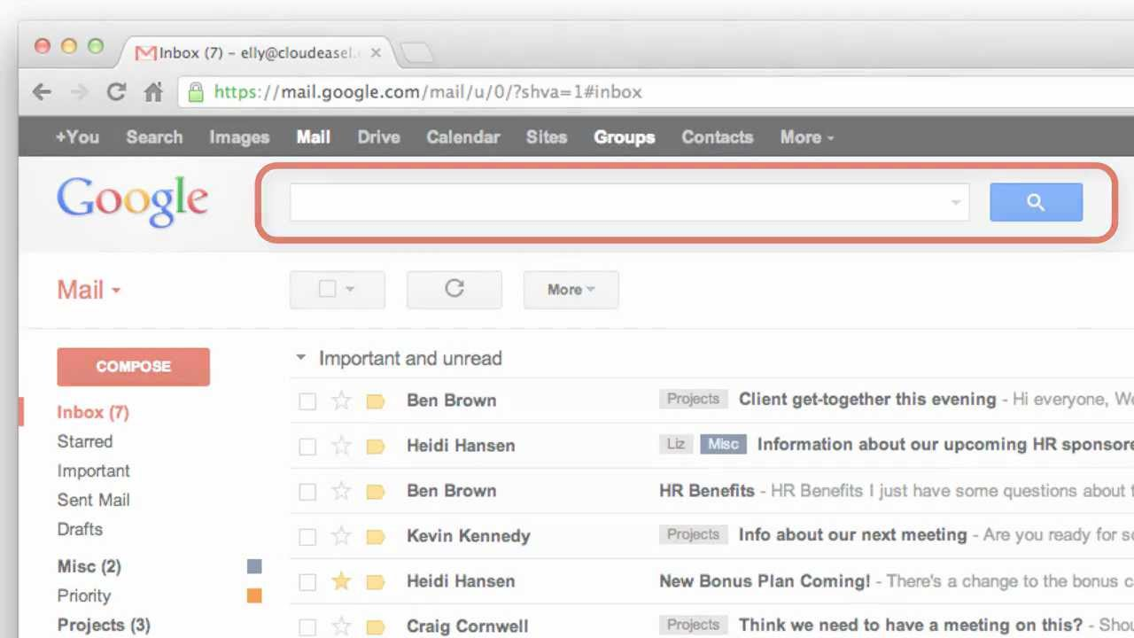 Gmail Search - YouTube