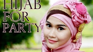 Tutorial Hijab Pashmina Pesta Dan Pre-Wedding Oleh