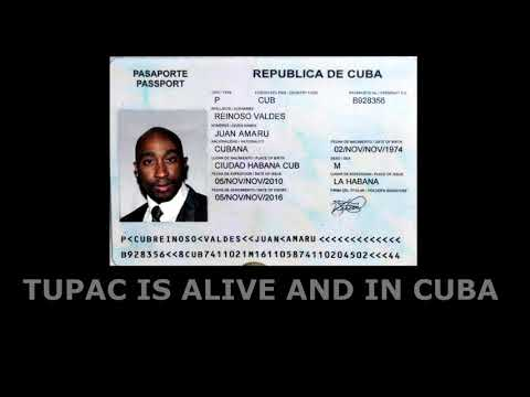 2PAC CUBAN PASSPORT FOUND PROVES HES ALIVE NEW PHOTO 2017 TUPAC SHAKUR