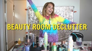 MAKEUP AND BEAUTY ROOM DECLUTTER... this took 10 hours!!!