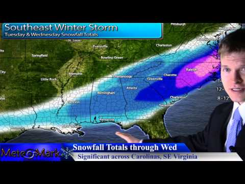Major Winter Storm Southeastern US & SE Virginia : Jan 28, 2014