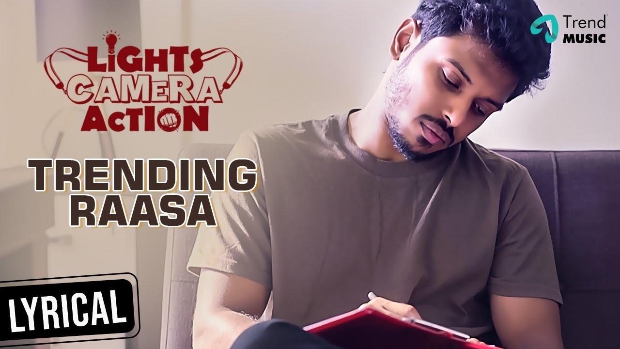 Lights Camera Action Movie | Trending Rasa Lyric Video | Yuvaraj Krishnasamy | Balaji | Trend Music